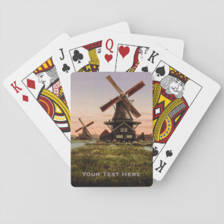 Vintage Dutch Windmills custom playing cards