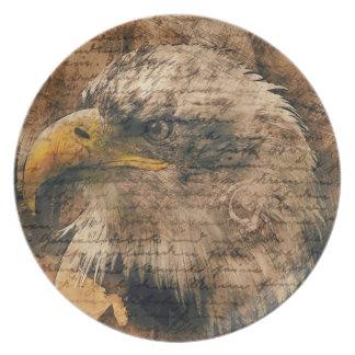 Vintage Eagle Party Plate
