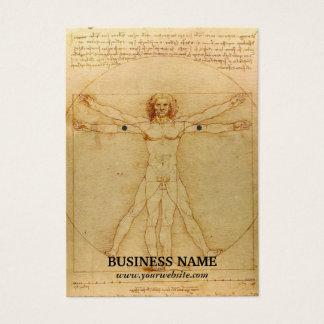 Vintage Earring Holder Da Vinci Human Body Business Card