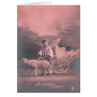 Vintage *Easter Angel and Lamb* Greeting Card