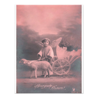 Vintage *Easter Angel and Lamb* Invite