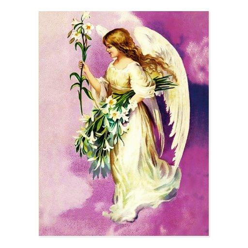 Vintage Easter Angel Christian Easter Postcards