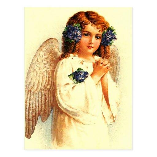 Vintage Easter Angel. Christian Easter Postcards