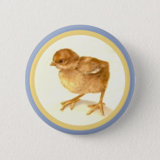 Vintage Easter Baby Chick 2 Inch Round Button