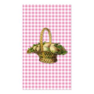 Vintage Easter basket bookmark Business Card Templates