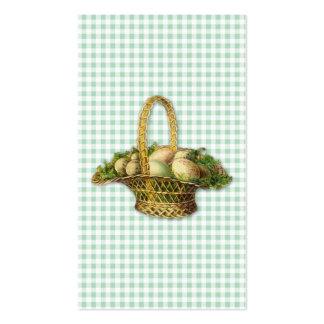 Vintage Easter basket bookmark Business Cards