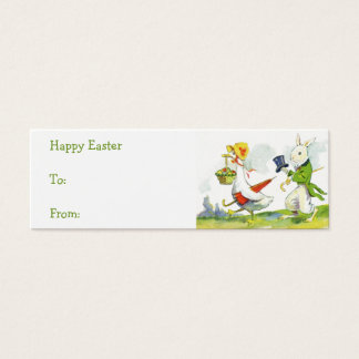 Vintage Easter basket gift tags