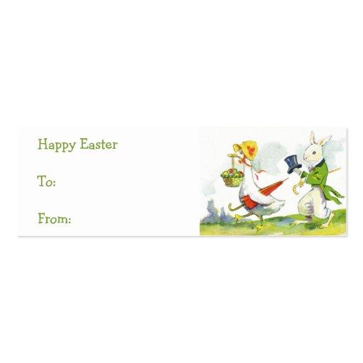 Vintage Easter Basket Gift Tags Business Card Templates