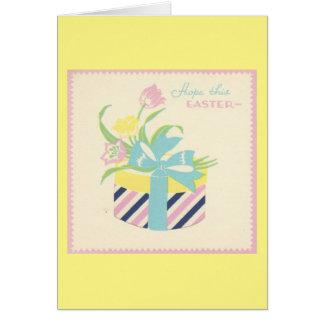 Vintage Easter Bonnet Box Card