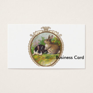 Vintage Easter Bunnies Business Card