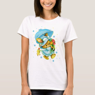 Vintage Easter Bunny and Chick. Gift T-Shirts