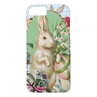 Vintage Easter Bunny and Eggs Collage iPhone 8/7 Case