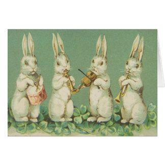 Vintage Easter Bunny Band, Card