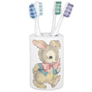 Vintage Easter Bunny Bathroom Set