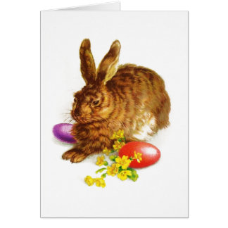 Vintage Easter Bunny Custom Greeting Cards