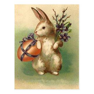 Vintage Easter Bunny Easter Egg Flowers Easter Car Postcards