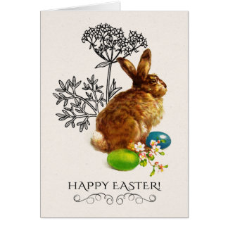 Vintage Easter Bunny Easter Greeting Cards