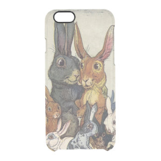 Vintage Easter bunny family Clear iPhone 6/6S Case