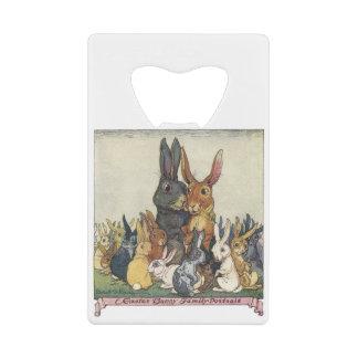 Vintage Easter bunny family Wallet Bottle Opener