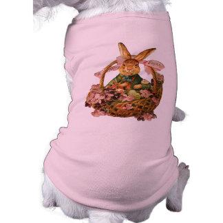 Vintage Easter Bunny Pet T-shirt