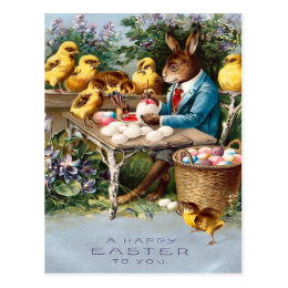 Old fashioned easter gifts on zazzle ca vintage easter bunny postcard negle Images