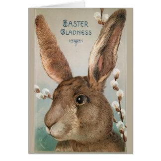 Vintage Easter Bunny Rabbit Greeting Card