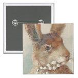 Vintage Easter Bunny Rabbit Pinback Buttons