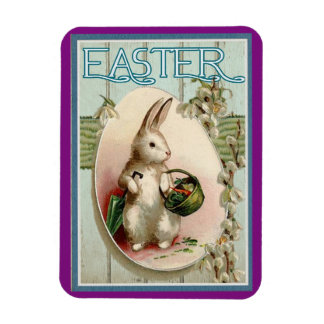 Vintage Easter Bunny Rectangular Photo Magnet