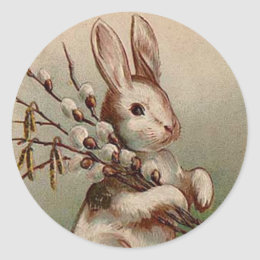 Vintage easter bunny gifts on zazzle ca vintage easter bunny sticker negle Choice Image