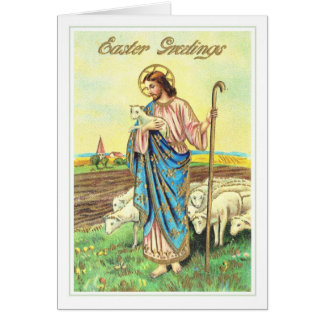 Vintage Easter Lamb Cards Greeting
