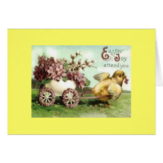Vintage Easter Chick Carriage Card