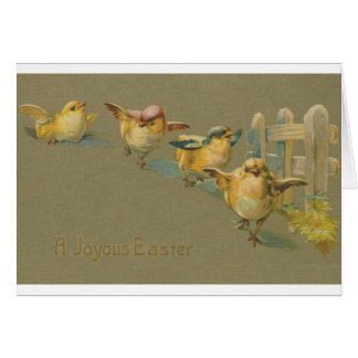 Vintage Easter Chick Parade Easter Card