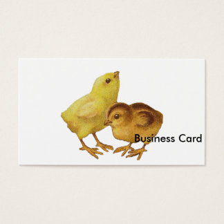 Vintage Easter Chicks Business Card