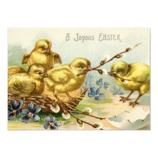 Vintage Easter Chicks Party Invitation