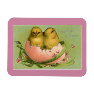 Vintage Easter Chicks Rectangular Photo Magnet