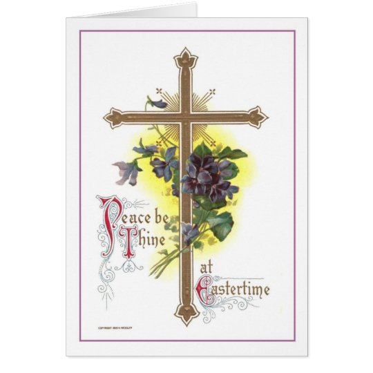 Vintage Easter Cross Card