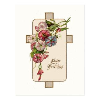 Vintage Easter Cross Post Card