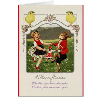 Vintage Easter Dancers Card