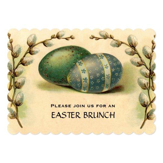 Vintage Easter Egg Dogwood Easter Brunch Card