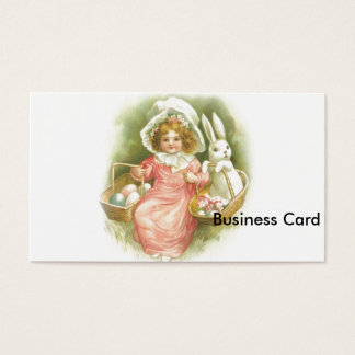 Vintage Easter Egg Gathering Business Card