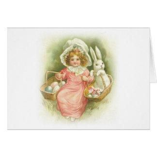 Vintage Easter Egg Gathering Card