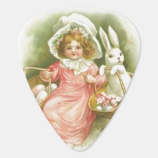 Vintage Easter Egg Gathering Guitar Pick