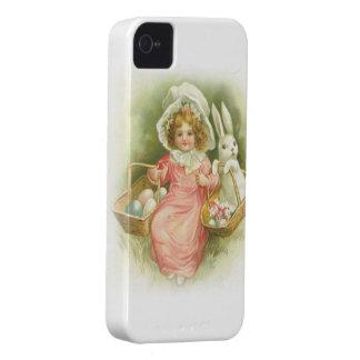 Vintage Easter Egg Gathering iPhone 4 Case