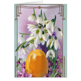 Vintage Easter Flowers Card