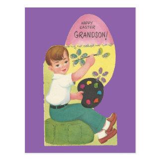 Vintage Easter For Grandson Postcard