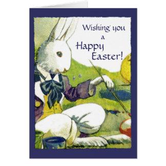 Vintage Easter Greeting Card - Dressed Rabbit