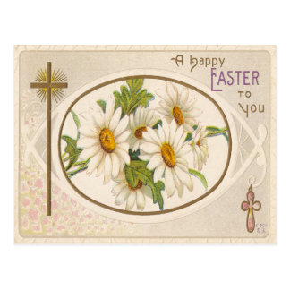 Vintage Easter Greetings/A Happy Easter For You Postcard