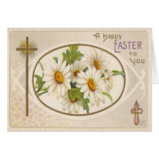 Vintage Easter Greetings/ A Happy Easter To You Greeting Card