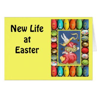 Vintage Easter greetings, Rabbits fun Greeting Cards
