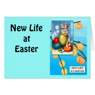 Vintage Easter greetings,  Seats for rabbits Greeting Card